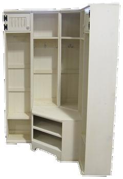CUSTOM - Corner Lockers & Bench | Custom wood Furniture | Sawdust City Custom Furniture