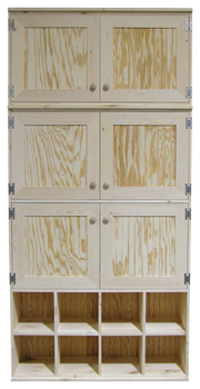 CUSTOM - Unfinished Cabinets & Cubbies