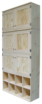 CUSTOM - Unfinished Cabinets & Cubbies | Custom Pine Cabinet | Sawdust City Custom Furniture
