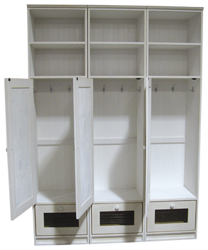 CUSTOM - Wide Lockers with Doors | Custom Pine Lockers | Sawdust City Custom Furniture