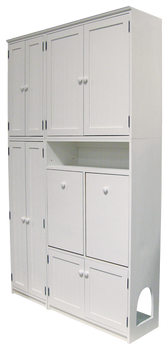 CUSTOM - Utility Storage with Cat Box   Custom Pine Furniture   Sawdust City Custom Furniture