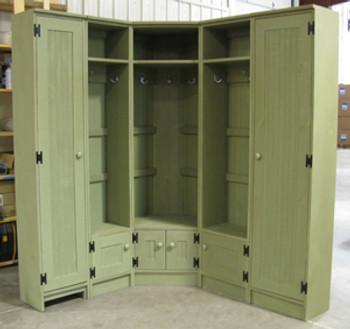 CUSTOM - Corner Locker Setup | Custom Wood Locker | Sawdust City Custom Furniture