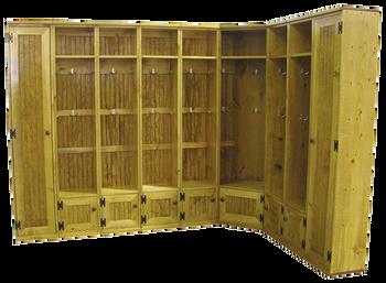 CUSTOM - Multi-Locker Entryway Storage | Custom Pine Lockers | Sawdust City Custom Furniture