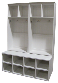 CUSTOM - Double-Wide Lockers on Cubbies | Custom Pine Lockers | Sawdust City Custom Furniture
