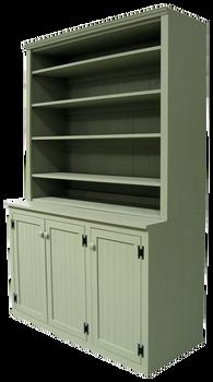 CUSTOM - Tall-Base Display Hutch | Custom Pine Hutch | Sawdust City Custom Furniture