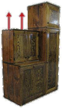 CUSTOM - Utility Room Storage | Custom Pine Storage | Sawdust City Custom Furniture