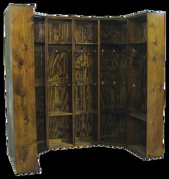 CUSTOM - Double Corner Locker Setup | Custom Wooden Lockers | Sawdust City Custom Furniture