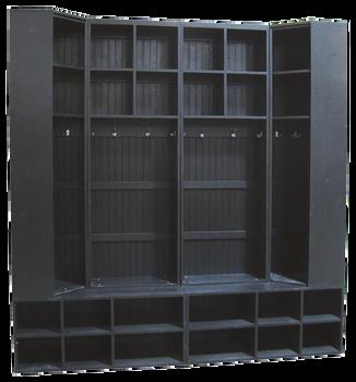 CUSTOM - Full Wall Locker Setup | Custom Wooden Lockers  | Sawdust City Custom Furniture