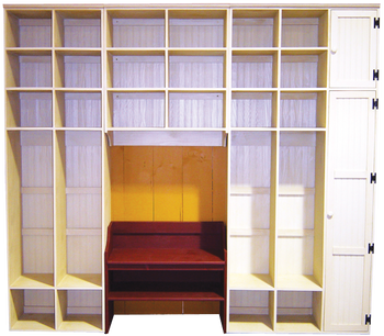 CUSTOM - Extra Tall Mudroom Storage | Custom Extra Tall Wooden Storage | Sawdust City Custom Furniture
