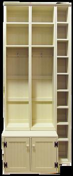 CUSTOM - Lockers with Skinny Shoe Storage | Custom Pine Storage Locker | Sawdust City Custom Furniture