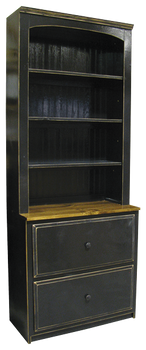 CUSTOM - Display Hutch with Drawers | Custom Pine Display Hutch | Sawdust City Custom Furniture