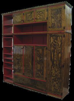 CUSTOM - Wall Storage Combination   Custom Pine Wall Storage   Sawdust City Custom Furniture