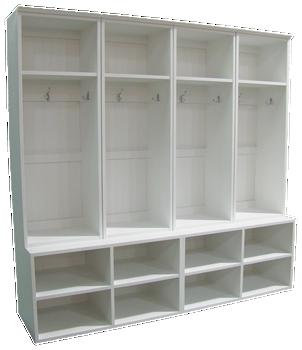 CUSTOM - Wide Lockers on Cubby Benches | Custom XL Pine Cubby Bench | Sawdust City Custom Furniture