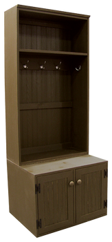 CUSTOM - Single Wide Locker on Bench | Custom XL Pine Locker Bench | Sawdust City Custom Furniture