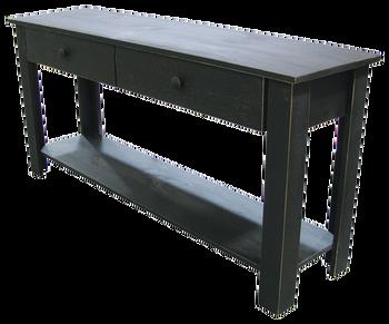 CUSTOM - Large Sofa Table with Drawers | Custom Large Pine Livingroom Table | Sawdust City Custom Furniture