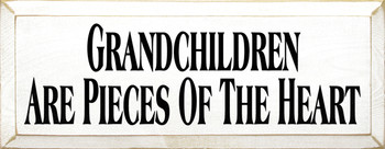 Grandchildren Are Pieces Of The Heart | Grandkids Wood Sign | Sawdust City Wood Signs