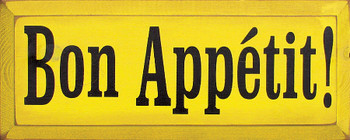 Bon Appetit |Dining Room Wood Sign| Sawdust City Wood Signs
