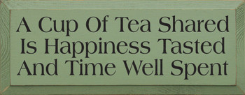 A Cup Of Tea Shared Is Happiness Tasted And Time Well Spent