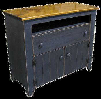CUSTOM - Black Media Cabinet | Custom Pine Livingroom Furniture | Sawdust City Custom Furniture