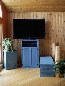 CUSTOM - Tall TV Stand | Custom Tall Pine TV Stand | Sawdust City Custom Furniture