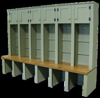 CUSTOM - 6-Locker Mudroom Setup | Custom Pine Mudroom Lockers | Sawdust City Custom Furniture
