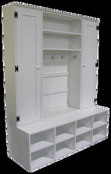 CUSTOM - Wide Locker Unit & Cabinets | Custom Wide Wood Lockers | Sawdust City Custom Furniture