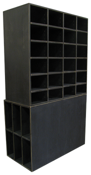 CUSTOM - Large Black Cubby Storage | Custom Large Pine Cubbies | Sawdust City Custom Furniture