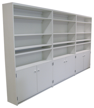 CUSTOM - Large Display Cases with Adjustable Shelving | Custom Large Wood Display Case | Sawdust City Custom Furniture