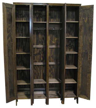 CUSTOM - Skinny Lockers with Vent Cutouts | Custom Pine Lockers | Sawdust City Custom Furniture