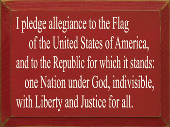 I pledge allegiance.. Justice for all. | USA Wood Sign | Sawdust City Wood Signs