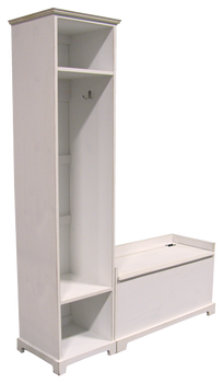 CUSTOM - Large Locker & Storage Bench | Custom Large Pine Storage Locker Bench | Sawdust City Custom Furniture