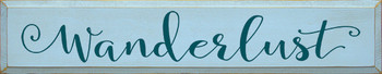 Shown in Old Baby Blue with Peacock lettering