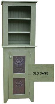 Punched Tin Hutch  | Pine Kitchen Furniture | Sawdust City Pine Furniture