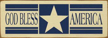 God Bless America | USA Wood Sign| Sawdust City Wood Signs