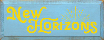 Shown in Old Light Blue with Sunflower Lettering