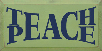 Shown in Old Celery with Blue Lettering