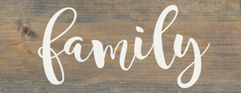 "Weathered Gray Farmhouse Style Family Sign - Solid Wood 7""x18"" Wall Sign"