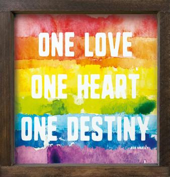 """Colorful Diversity & Pride Sign - 12""""x12"""" Wood Framed Sign"""