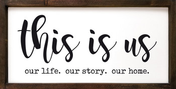 """This Is Us Wall Sign - 12""""x24"""" Framed Family Sign"""
