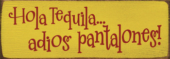Tequila wooden sign on Sunflower and Red