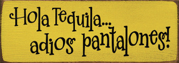 Tequila wooden sign on Sunflower with Black