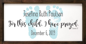 12x24 wood framed sign shown with Old Cottage White, Black, and Baby Aqua
