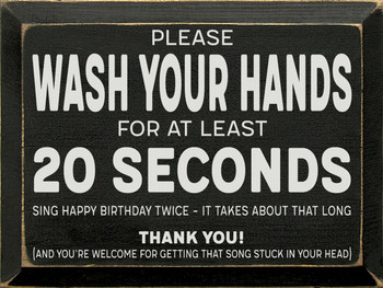 Wash Your Hands Wood Sign |  Wood Signs With Sayings | Sawdust City Signs