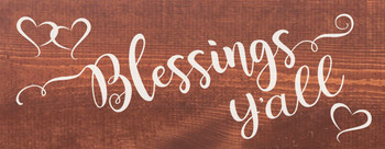 Blessings Y'all | Cute Wood Signs | Sawdust City Wood Signs