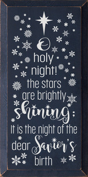 O holy night! Sign | Wood Christmas Signs | Sawdust City Wood Signs