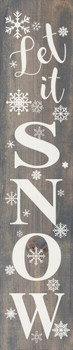 Let It Snow Farmhouse Sign | Wood Winter Signs | Sawdust City Wood Signs