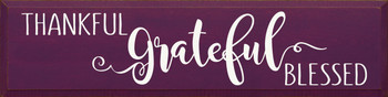 Thankful Grateful Blessed (9x36)