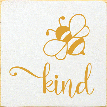 Bee kind (image of bee) | Wood Bee Décor Signs | Sawdust City Wood Signs
