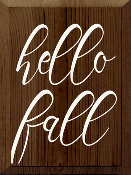 Hello Fall | Wood Fall Sign | Sawdust City Wood Signs