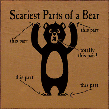 Scariest Parts of a Bear (all of them) | Wood Funny Signs | Sawdust City Wood Signs